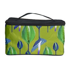 Tropical Floral Pattern Cosmetic Storage Case
