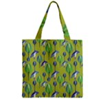 Tropical Floral Pattern Zipper Grocery Tote Bag