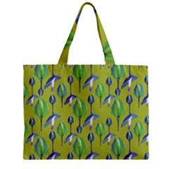 Tropical Floral Pattern Zipper Mini Tote Bag