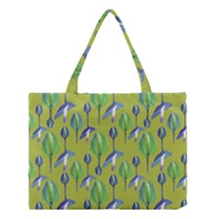 Tropical Floral Pattern Medium Tote Bag