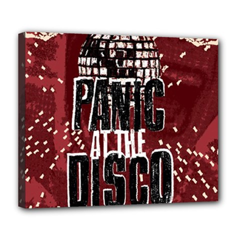 Panic At The Disco Poster Deluxe Canvas 24  X 20   by Onesevenart