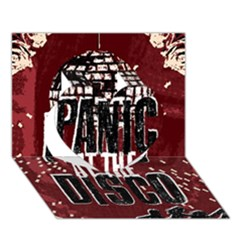Panic At The Disco Poster Heart 3d Greeting Card (7x5) by Onesevenart