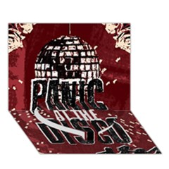 Panic At The Disco Poster Heart Bottom 3d Greeting Card (7x5) by Onesevenart