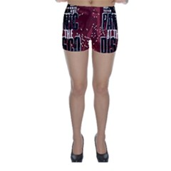 Panic At The Disco Poster Skinny Shorts by Onesevenart