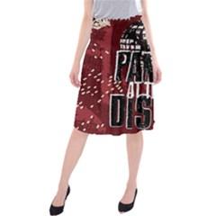 Panic At The Disco Poster Midi Beach Skirt by Onesevenart