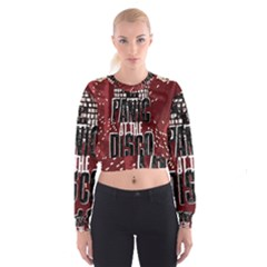 Panic At The Disco Poster Women s Cropped Sweatshirt by Onesevenart
