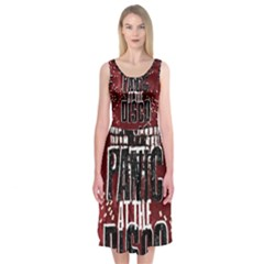 Panic At The Disco Poster Midi Sleeveless Dress by Onesevenart