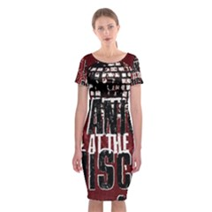 Panic At The Disco Poster Classic Short Sleeve Midi Dress by Onesevenart