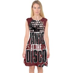 Panic At The Disco Poster Capsleeve Midi Dress by Onesevenart