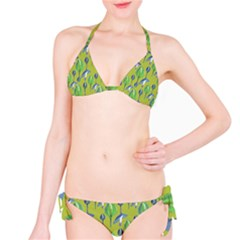 Tropical Floral Pattern Bikini Set