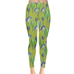 Tropical Floral Pattern Leggings