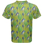 Tropical Floral Pattern Men s Cotton Tee