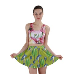 Tropical Floral Pattern Mini Skirt