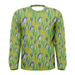 Tropical Floral Pattern Men s Long Sleeve Tee