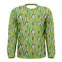 Tropical Floral Pattern Men s Long Sleeve Tee View1