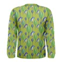 Tropical Floral Pattern Men s Long Sleeve Tee View2