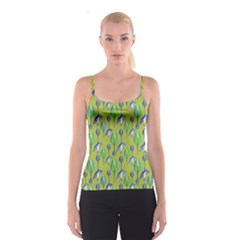 Tropical Floral Pattern Spaghetti Strap Top