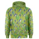 Tropical Floral Pattern Men s Pullover Hoodie View1