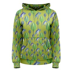 Tropical Floral Pattern Women s Pullover Hoodie