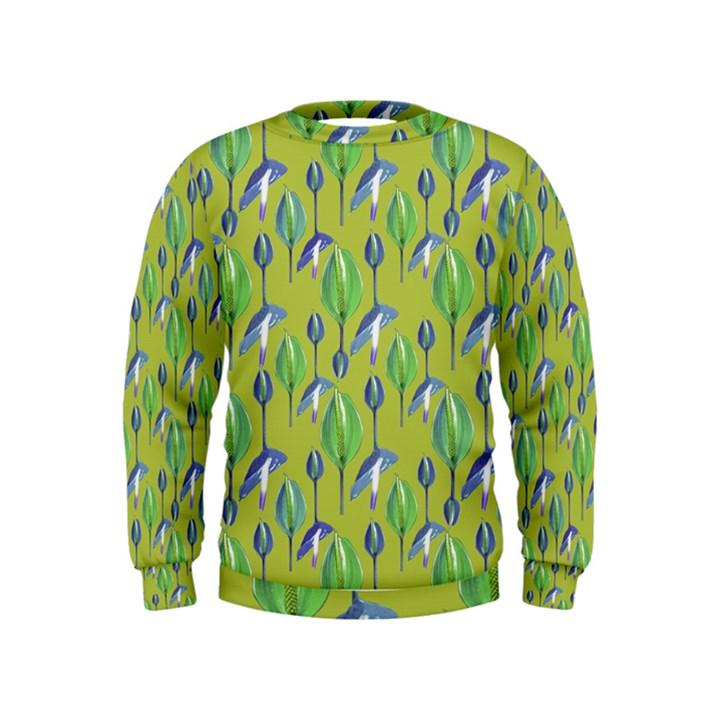 Tropical Floral Pattern Kids  Sweatshirt