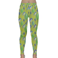 Tropical Floral Pattern Yoga Leggings
