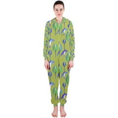 Tropical Floral Pattern Hooded Jumpsuit (Ladies)