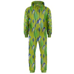 Tropical Floral Pattern Hooded Jumpsuit (Men)