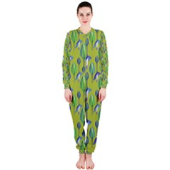 Tropical Floral Pattern OnePiece Jumpsuit (Ladies)