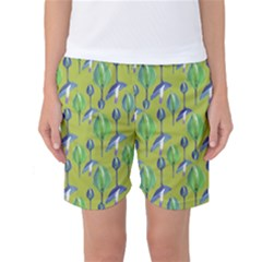 Tropical Floral Pattern Women s Basketball Shorts