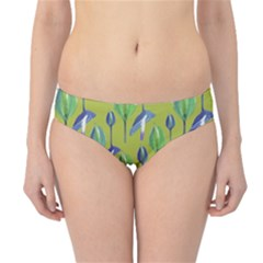 Tropical Floral Pattern Hipster Bikini Bottoms