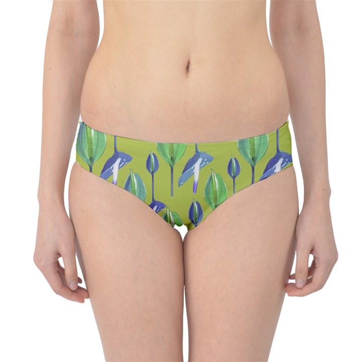 Tropical Floral Pattern Hipster Bikini Bottoms