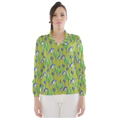 Tropical Floral Pattern Wind Breaker (Women)