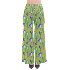 Tropical Floral Pattern Pants