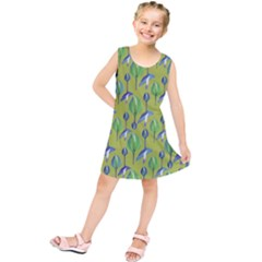 Tropical Floral Pattern Kids  Tunic Dress