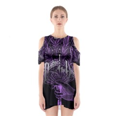 Panic At The Disco Cutout Shoulder Dress by Onesevenart