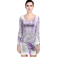 Panic At The Disco Long Sleeve Bodycon Dress by Onesevenart