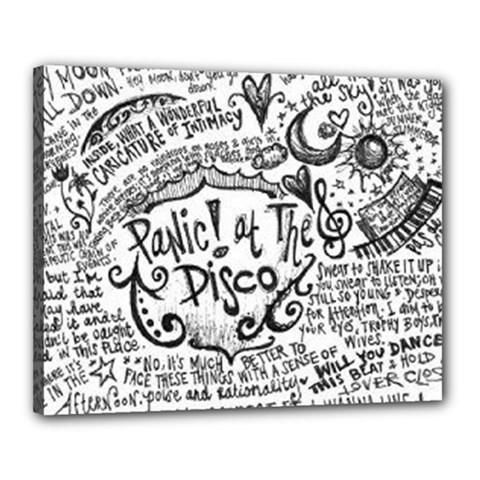 Panic! At The Disco Lyric Quotes Canvas 20  X 16  by Onesevenart
