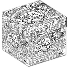 Panic! At The Disco Lyric Quotes Storage Stool 12   by Onesevenart