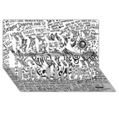 Panic! At The Disco Lyric Quotes Happy Birthday 3d Greeting Card (8x4) by Onesevenart