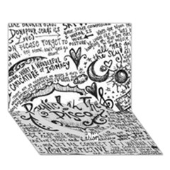 Panic! At The Disco Lyric Quotes Heart Bottom 3d Greeting Card (7x5) by Onesevenart