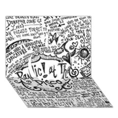 Panic! At The Disco Lyric Quotes Apple 3d Greeting Card (7x5) by Onesevenart