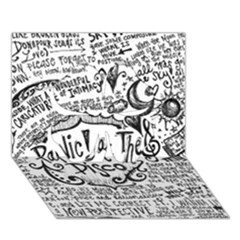 Panic! At The Disco Lyric Quotes Clover 3d Greeting Card (7x5) by Onesevenart