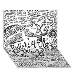 Panic! At The Disco Lyric Quotes Ribbon 3d Greeting Card (7x5) by Onesevenart