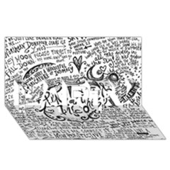 Panic! At The Disco Lyric Quotes Party 3d Greeting Card (8x4) by Onesevenart