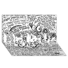 Panic! At The Disco Lyric Quotes Believe 3d Greeting Card (8x4) by Onesevenart