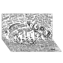 Panic! At The Disco Lyric Quotes Sorry 3d Greeting Card (8x4) by Onesevenart