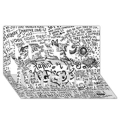 Panic! At The Disco Lyric Quotes Best Wish 3d Greeting Card (8x4) by Onesevenart