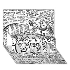 Panic! At The Disco Lyric Quotes Miss You 3d Greeting Card (7x5) by Onesevenart