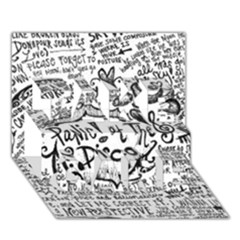 Panic! At The Disco Lyric Quotes Take Care 3d Greeting Card (7x5) by Onesevenart