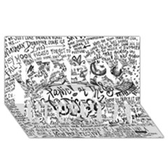 Panic! At The Disco Lyric Quotes Happy New Year 3d Greeting Card (8x4) by Onesevenart
